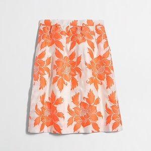 J. Crew Factory Neon Floral Flounce Skirt